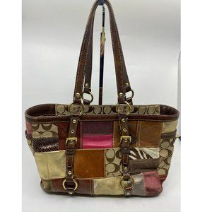 COACH Medium Size Patchwork Multi-Color Tote Bag